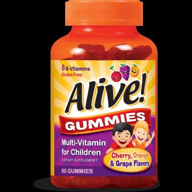 Alive Mултивитамини за деца желирани таблетки х 60, Nature's way