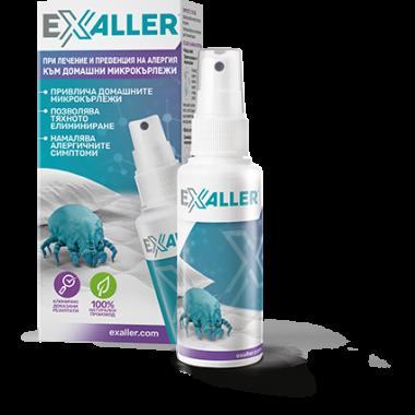 Exaller при лечение и превенция на алергия към домашни микрокърлежи спрей 150мл