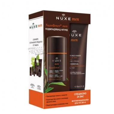 Nuxe Men Nuxellence Флуид против бръчки 50мл + Nuxe Men Nuxellence Душ гел за мъже 100мл