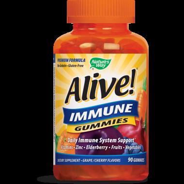 Alive! Immune Gumies - Имунна защита желирани таблетки х 90, Nature`s Way