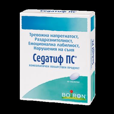 Седатиф ПС при тревожна напрегнатост, раздразнителност, емоционална лабилност, безсъние, 40 таблетки, Boiron