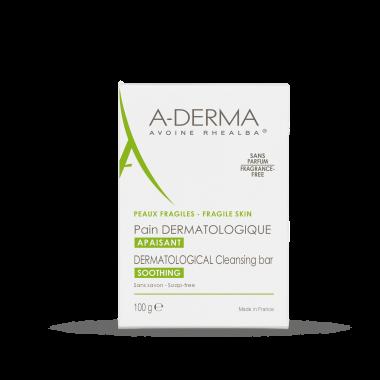 A-Derma дерматологичен сапун за лице и тяло с мляко от овес 100 г