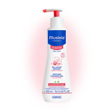 Mustela Bebe Измиващ гел за коса и тяло за чувствителна кожа 300мл