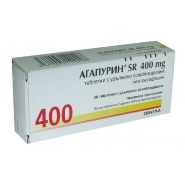 АГАПУРИН СР ТБ 400МГ Х 20