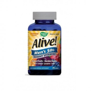 Alive (Алайв) Мултивитамини за мъже 50+, 94мг, 75 желирани таблетки, Nature's Way