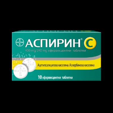 АСПИРИН + ВИТАМИН Ц ЕФФ ТБ Х 10 БАЙЕР
