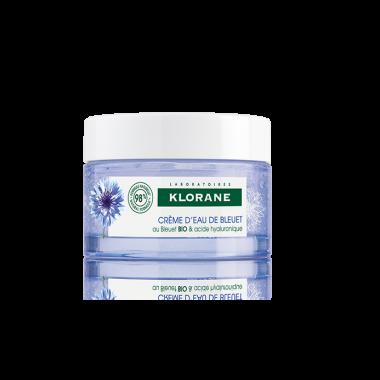 Klorane Bleuet аква крем за лице със синя метличина, отгледана чрез органично земеделие и хиалуронова киселина 50мл.