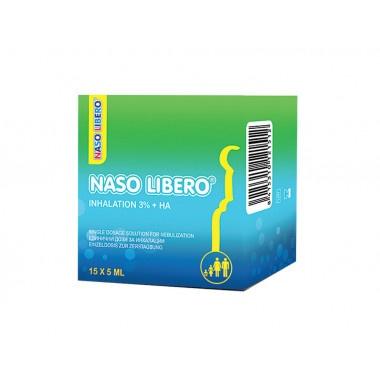 Naso Libero (Назо либеро) - разтвор за инхалации, 3% NaCl и хиалурон 15 броя х 5мл