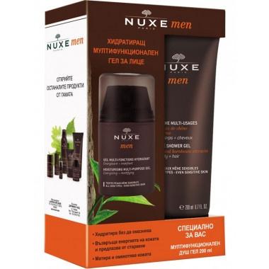 Nuxe Men Гел за лице хидратиращ 50мл + Мултифункционален душ гел 100мл