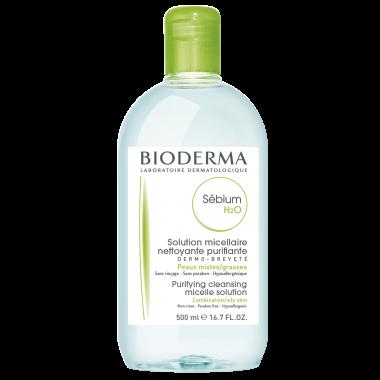 Bioderma Sebium Мицеларна вода за мазна и акнеична кожа 500 мл