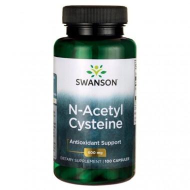 Н-Асетил Цистеин - аминокиселина с антиоксидантно действие 600мг капсули х 100, Swanson