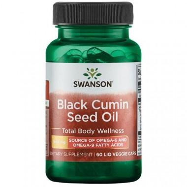 Масло от черен кимион - мощен имуностимулатор 500мг течни веге капсули х 60, Swanson