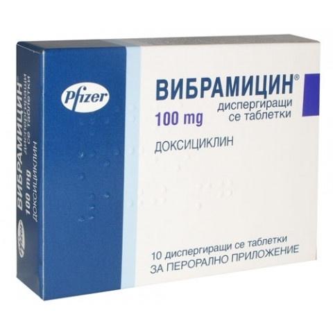 Снимка на ВИБРАМИЦИН ТБ 100МГ Х 10 за 16.59лв. от Аптека Медея