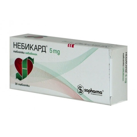 НЕБИКАРД ТБ 5МГ X30