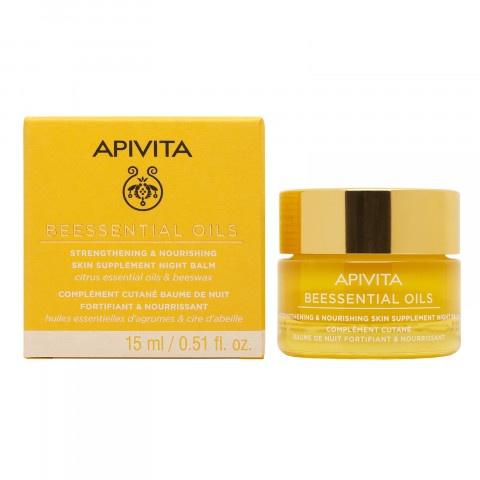 Снимка на Apivita Beessential мощен подхранващ нощен балсам за лице с цитрусови етерични масла и пчелен восък 15мл за 37.27лв. от Аптека Медея