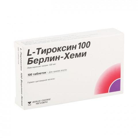 Л ТИРОКСИН ТБ 100 МКГ Х 100