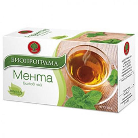 Чай Мента, 20 бр., филтър, Биопрограма