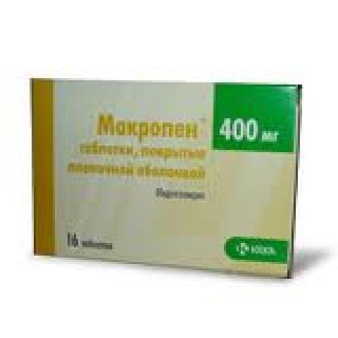 Снимка на МАКРОПЕН 400МГ Х 16 КРКА за 6.39лв. от Аптека Медея