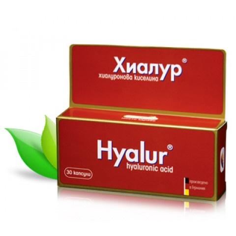 Хиалур Хиалуронова киселина, за стави, хрущяли и еластична кожа, 30 капсули, Naturpharma