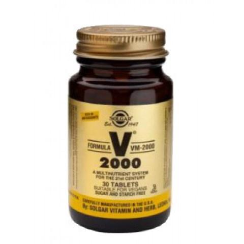 Формула VM-2000, Хранителна добавка с витамини и минерали, 30 таблетки, Solgar