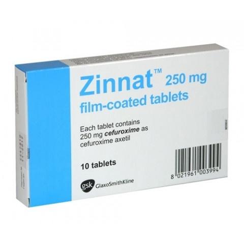Снимка на ЗИНАТ 250МГ Х 10 ГЛАКСО за 6.99лв. от Аптека Медея