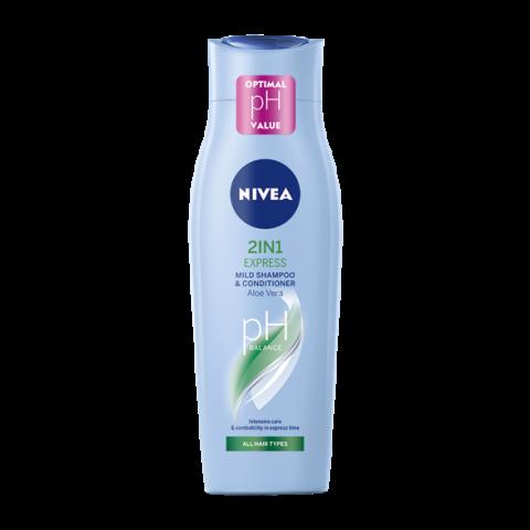 Снимка на Nivea 2In1 Express Шампоан подхранващ за по-лесно разресване 250мл за 3.63лв. от Аптека Медея