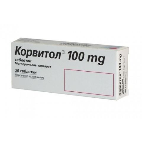 КОРВИТОЛ ТБ 100МГ Х 30