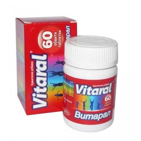 Витарал, хранителна добавка, 60 таблетки, Йелфа