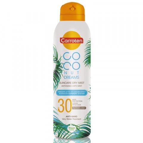 Carroten Coconut Dreams Dry Mist SPF30 слънцезащитен спрей за тяло 200мл.