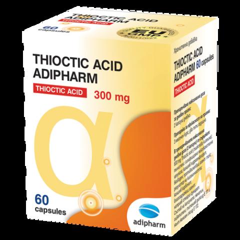 Thioctic Acid (Тиоктик ацид) 300мг, 60 таблетки, Adipharm
