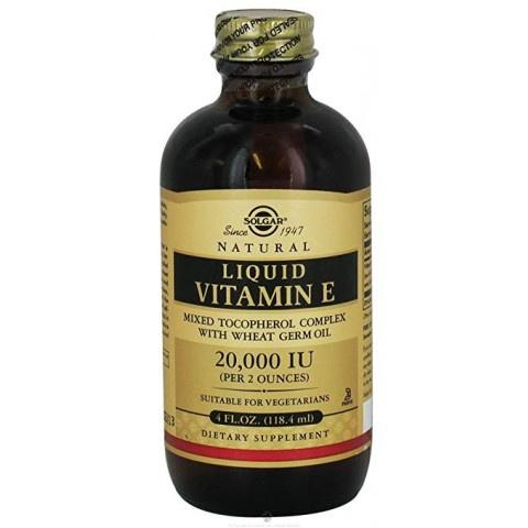 Витамин Е, 20000 IU, меки капсули и в течна форма, Solgar