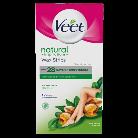 Veet Pure Natural Депилиращи ленти за тяло х 12