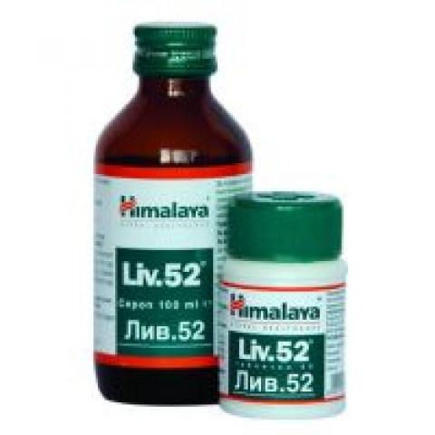 Лив.52 (Liv.52), Хранителна добавка, 60 таблетки, Himalaya