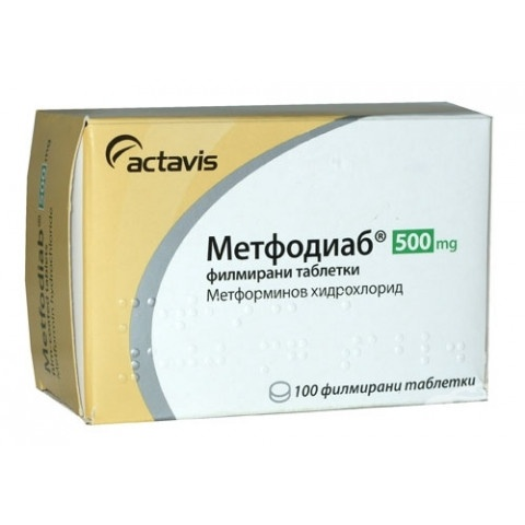 МЕТФОДИАБ ТБ 500МГ Х 100