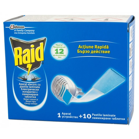 Снимка на RAID ИЗПАРИТЕЛ С 10 БРОЯ ЛАМИНИРАНИ ТАБЛЕТКИ  за 9.99лв. от Аптека Медея