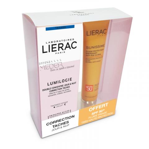 Снимка на Lierac Lumilogie Двоен концентрат срещу пигментни петна 2 броя х 15мл + Sunissime SPF50 Слънцезащитен флуид за лице 40мл за 112.99лв. от Аптека Медея