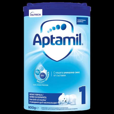 Снимка на Aptamil 1 Pronutra-Advance Адаптирано мляко 0-6 месеца 800г за 33.59лв. от Аптека Медея
