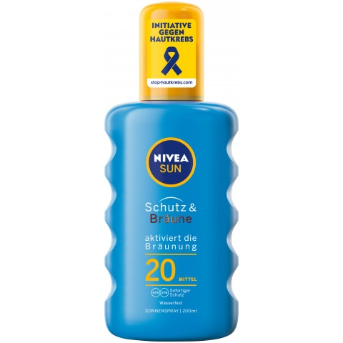 Снимка на Nivea Sun Protect & Bronz SPF20 слънцезащитен спрей за тяло 200мл. за 15.99лв. от Аптека Медея
