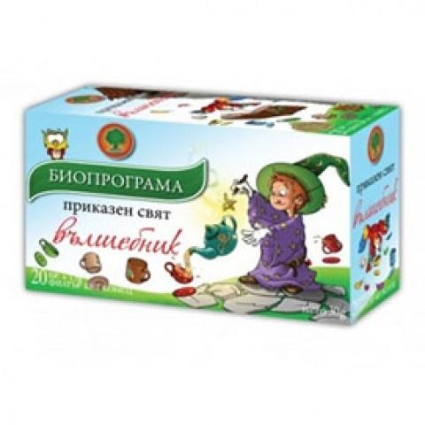 Чай Вълшебник с киселица, хибискус, бял равнец, липа, 20бр., филтът без конец, Биопрограма
