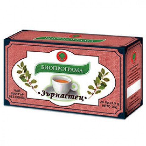 Чай Зърнастец, 20 бр., филтър, Биопрограма