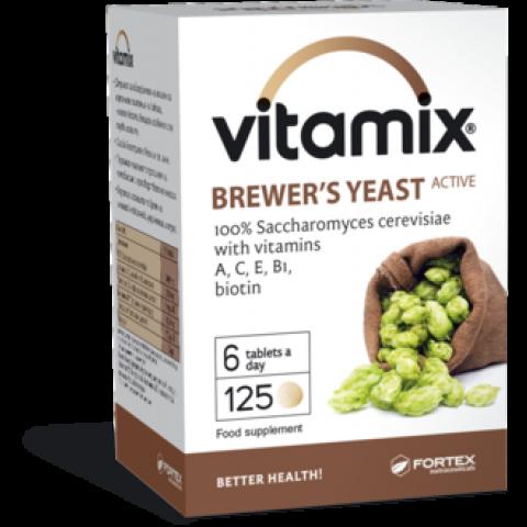 Снимка на Vitamix (Витамикс) Бирена мая, с витамини А, С, Е, В1 и биотин, 125 таблетки, Fortex за 4.69лв. от Аптека Медея