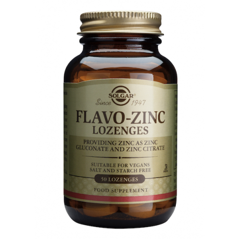 Флаво Цинк, Хранителна добавка за имунната система, 50 дражета, Solgar