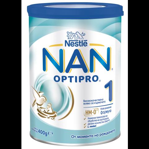 NAN OptiPro 1 Адаптирано мляко за кърмачета, 0 до 6 месеца х 400гр