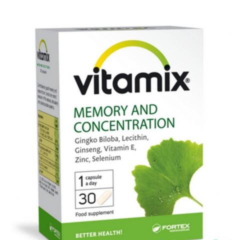 Снимка на Vitamix Витамикс за памет и концентрация, 30 капсули, Fortex за 9.39лв. от Аптека Медея