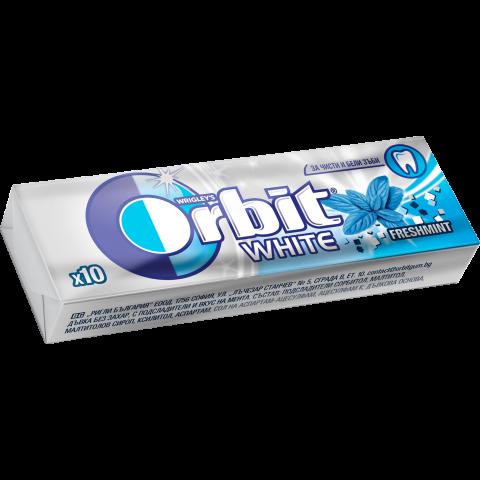 Orbit White Freshmint дъвки без захар, с подсладители и вкус на мента х 10 дражета