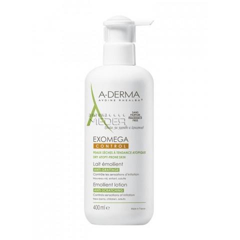 A-Derma Exomega Control Емолиентен лосион за лице и тяло за много суха и атопична кожа 400мл промо