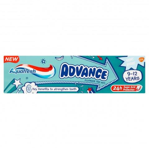 Снимка на AQUAFRESH ADVANCE ПАСТА ЗА ЗЪБИ ДЕТСКА 9-12Г 75МЛ за 3.59лв. от Аптека Медея