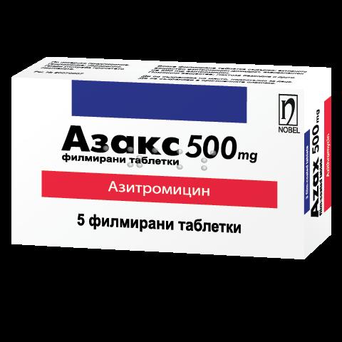 Снимка на АЗАКС ТБ 500МГ X 5 за 14.59лв. от Аптека Медея