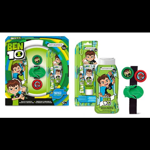 Disney Ben 10 Детски комплект душ гел, четка за зъби и паста за зъби + играчка