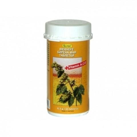 Снимка на Бирена мая с Витамини А, С, Е, 125 таблетки, Chemax за 7.69лв. от Аптека Медея